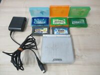 L63 Nintendo Gameboy Advance SP console Platinum Silver game Adapter Japan GBA