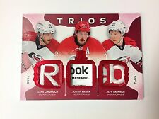 2015-16 UD THE CUP TRIOS TAGS C3-CANES LINDHOLM/FAULK/SKINNER  MEMORABILIA 2/2