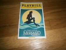 Disney Little Mermaid 8/2009 Broadway Playbill Faith Prince, Norm Lewis