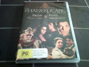 THE SHAKESPEARE Collection - 4 DVD set - region 4 DVD's