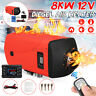8KW 12V Diesel Air Heater LCD Thermostat Remote Low Noise For Trucks