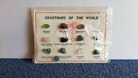 Vintage Gemstones Of The World 12 Stones On Card Sealed (One Loose) G5