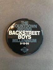 "Backstreet Boys-1999 Promo ""Countdown"" Button/Pin-Millennium New Promo Jive"