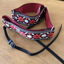 Souldier Camera Neck Strap - Red John Lennon Rooftop Guitar Pattern Made In USA