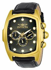 Invicta Men's Grand Lupah Quartz Gold Tone Leather Watch SET