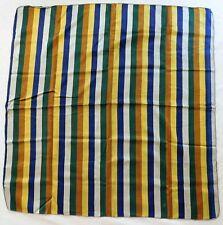 """Vintage striped scarf mid 20th century bright colours 32"""" square circa 1950s ex"""