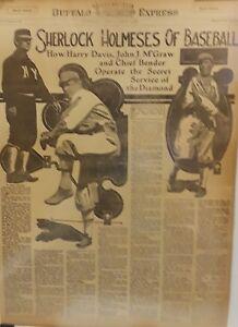 1914 Vintage Newspaper Sherlock Holmeses of Baseball-Carrara of Padua-183