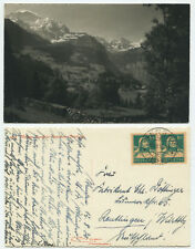 38059 - Wengen - Jungfrau, Großhorn - Echtfoto - AK, gelaufen 12.8.1930