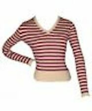 Cotton Machine Washable Striped Jumpers & Cardigans for Women