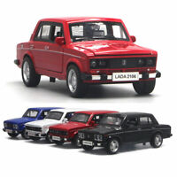 1:32 Scale VAZ Lada 2106 Model Car Diecast Gift Toy Vehicle Pull Back Kids