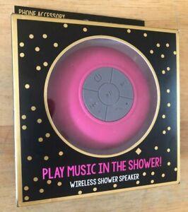 BLUETOOTH WIRELESS SHOWER SPEAKER PINK IN BOX