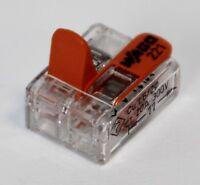 Wago 221 Klemmen 25x 221-412 Kabelverbinder in d. wiederverschließb Box Original