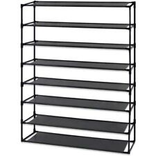10 Tier Stackable Shoe Rack Storage Shelves Stainless Steel Frame Holds 50 Pairs