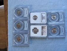 Washington Silver Quarter PCGS NGC Lot of 7 Coins MS65 MS66 PF66