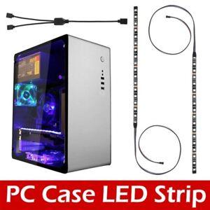 2 pcs 30cm 4PIN Strip Lighting RGB 5050 SMD LED Strip Lights 12V for AsusTV PC