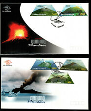 Indonesia 2003 Volcano Set of 5 on 2 Fdc