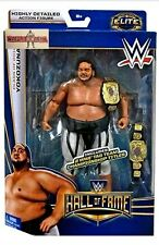 WWE Elite YOKOZUNA Hall Fame mattel Wrestling figure tag team Title belts hof