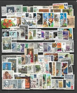 USED 100 + ALL DIFFERENT U.S. COMMEMORATIVE STAMPS MOSTLY LARGE