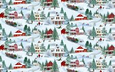 WILMINGTON PRINTS BRINGING HOME CHRISTMAS SCENIC COTTON BTY
