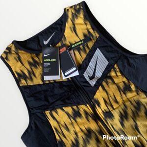 Nike Aerolayer Wild Running Men's Reversible Vest Repel Mens Medium M CU6058 010