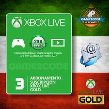 Abbonamento XBOX Live Gold 3 MESI valido per Xbox 360 e Xbox ONE - Invio in 24h!