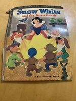 SNOW WHITE AND THE SEVEN DWARFS - BIG GOLDEN BOOK - 1966 18th printing K1