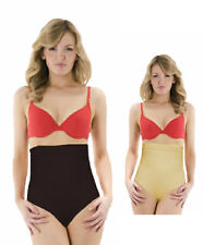 Ladies Hi-Waist Control Briefs anti-slip waist band Black or Skin tone S M L X L
