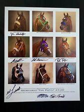 AMERICAN PHAROAH ZENYATTA CALIFORNIA CHROME WINX SIGNED VOX POPULI POSTER HORSE