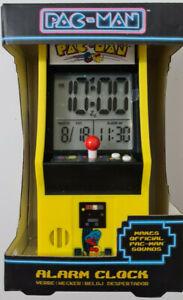 COLLECTABLE PAC-MAN ALARM CLOCK ARCADE VIDEO GAME BANDAI NAMCO RARE NEW BOXED