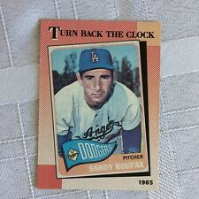 TOPPS SANDY KOUFAX CARD #665 1965 TURN BACK THE CLOCK TWENTY-FIVE YEARS AGO
