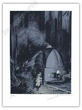 Affiche Sérigraphie Schuiten Atlantic 12 Train 200 ex signée 60x80 cm