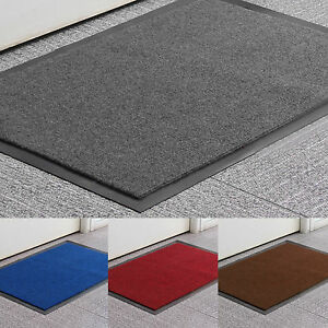 Multiple size Non Slip Rubber Door Mats Indoor Outdoor Washable Heavy Duty Rug