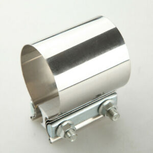 """2"""" Inch Stainless Steel Flat Band Style Exhaust Downpipe Clamp"""