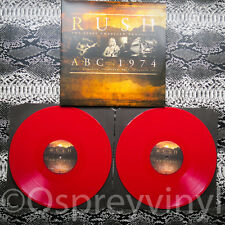 Rush ABC 1974 Limited Edtn Numbered Red 180g Vinyl 2LP Sealed Limited 500 only