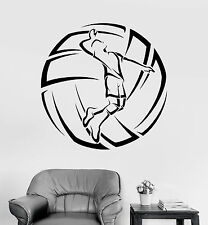 Vinyl Wall Decal Volleyball Player Ball Sport Stickers Mural (ig3784)