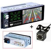 "4.1"" 1 Din Touch Screen Car Stereo AM FM Radio MP5 Player USB Bluetooth w/Camera"