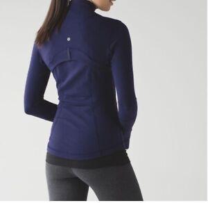 Lululemon Define Jacket Indigo Blue Size 10