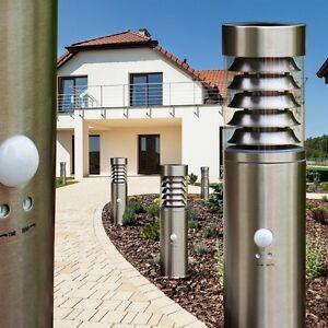Sockelleuchte Edelstahl Stehlampe Gartenlampe Wege Steh Leuchte  Bewegungsmelder