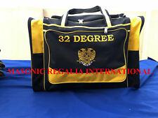 MASONIC 32ND DGREE DUFFLE BAGS, DUFFLE BAGS, TRAVEL DUFFLE BAGS, MASONIC REGALIA