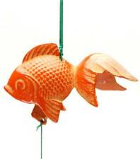 Japanese KINGYO Gold-fish FURIN Wind Chimes Cast Iron/Made in Japan