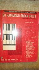 VTG 90 Hammond Organ Solos 1958 Sheet Music Book No. 18 Classical & Standards!
