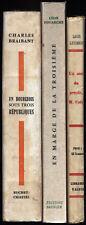 Lot de 3 livres biographie politique troisième république Coty 1929-1957