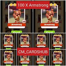 Buy 100 X Armstrong, Coin Master Cards From Circus Set [Get Jet Delivery]