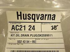 Husqvarna 532435495 Oil drain plug kit Nos