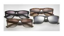Ray Ban RB 4165 Justin UK RAYBAN Sunglasses Unisex 0rb4165 622/6q Rubber Black - Orange Mirror