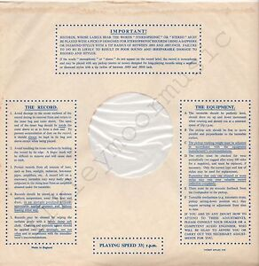 """Vintage INNER SLEEVE or SLEEVES 12"""" IMPORTANT! THE RECORD EQUIPMENT dots v1 x 1"""