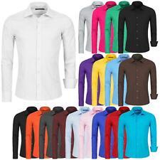 Hemd Herren Slim Fit Business Freizeit Hochzeit Shirt Bügelleicht Hemden Langarm