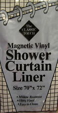 Magnetic Vinyl Shower Curtain Liner Sky Blue The Classic Touch