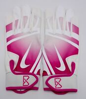 Nike Huarache Edge Batting Gloves Men's Large Baseball White/Vivid Pink