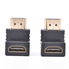 2x HDMI 90 Degree Elbow Connector Male to Female Wall-mounted TV HDMI Adapter EP